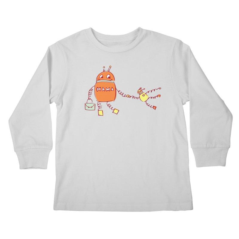 Robomama Kids Longsleeve T-Shirt by Boriana's Artist Shop