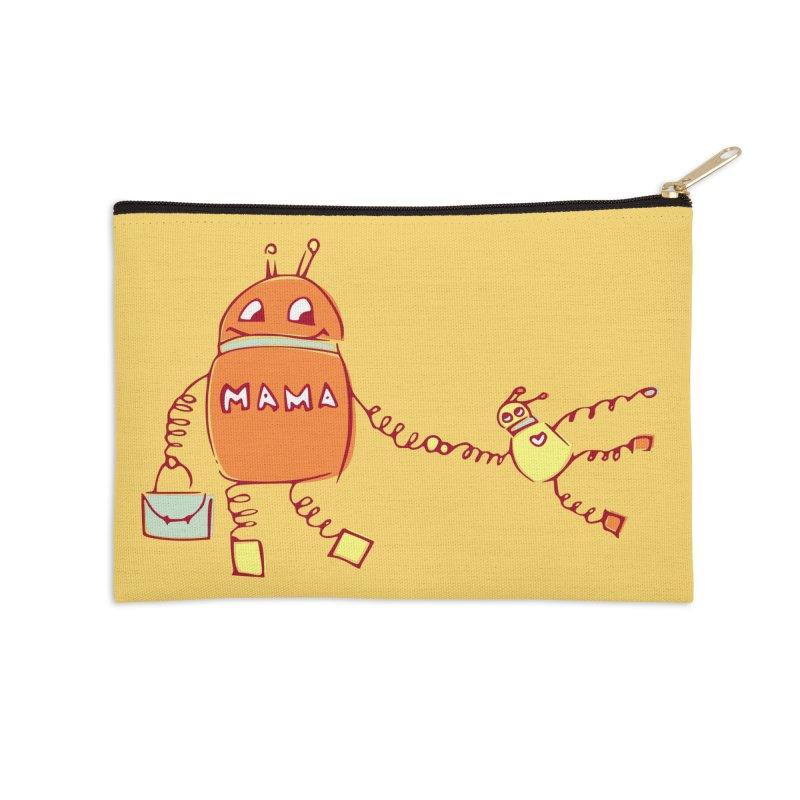 Robomama Accessories Zip Pouch by Boriana's Artist Shop