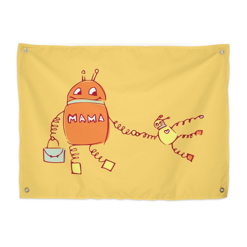 Robomama Home Tapestry by Boriana's Artist Shop