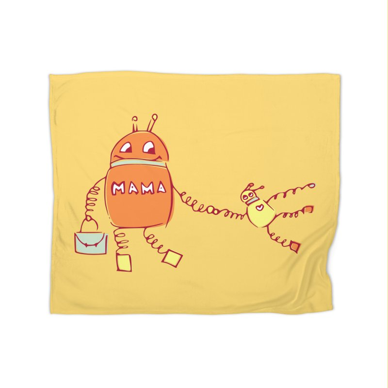 Robomama Home Blanket by Boriana's Artist Shop