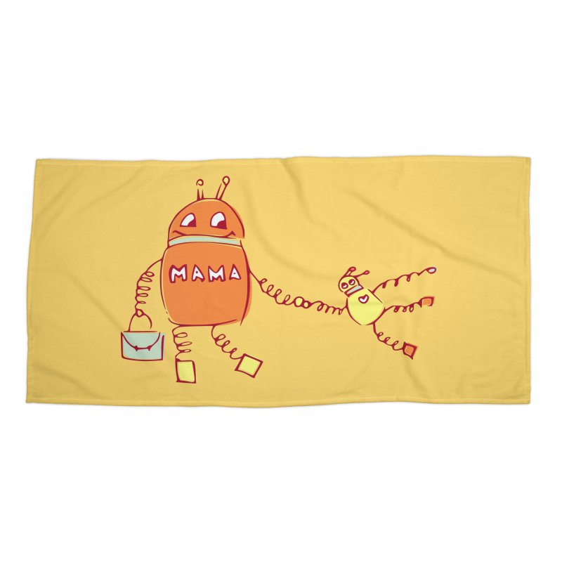 Robomama Accessories Beach Towel by Boriana's Artist Shop