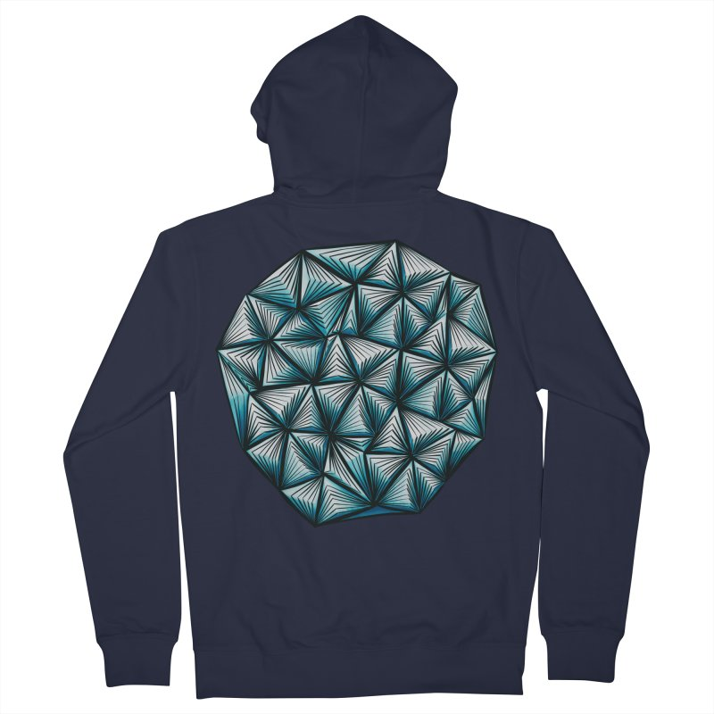 Abstract Shape With Triangles Pattern Women's Zip-Up Hoody by Boriana's Artist Shop