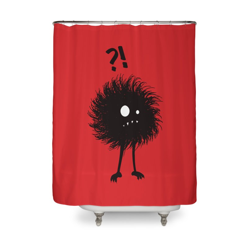Wondering Evil Bug Home Shower Curtain by Boriana's Artist Shop