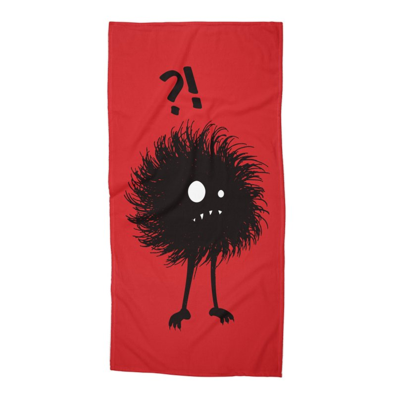 Wondering Evil Bug Accessories Beach Towel by Boriana's Artist Shop