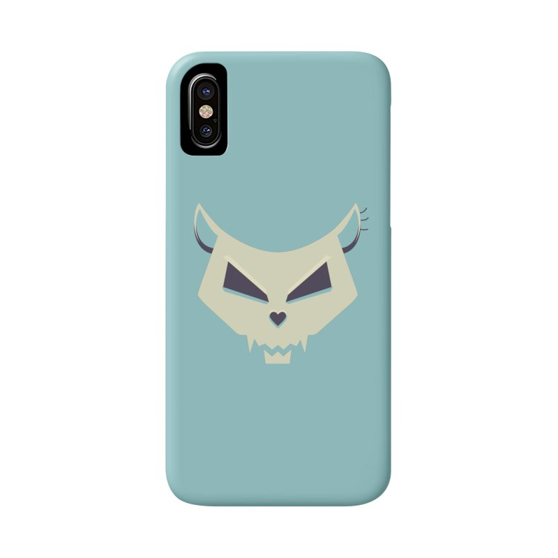 Funny Evil Cat Skull Accessories Phone Case by Boriana's Artist Shop