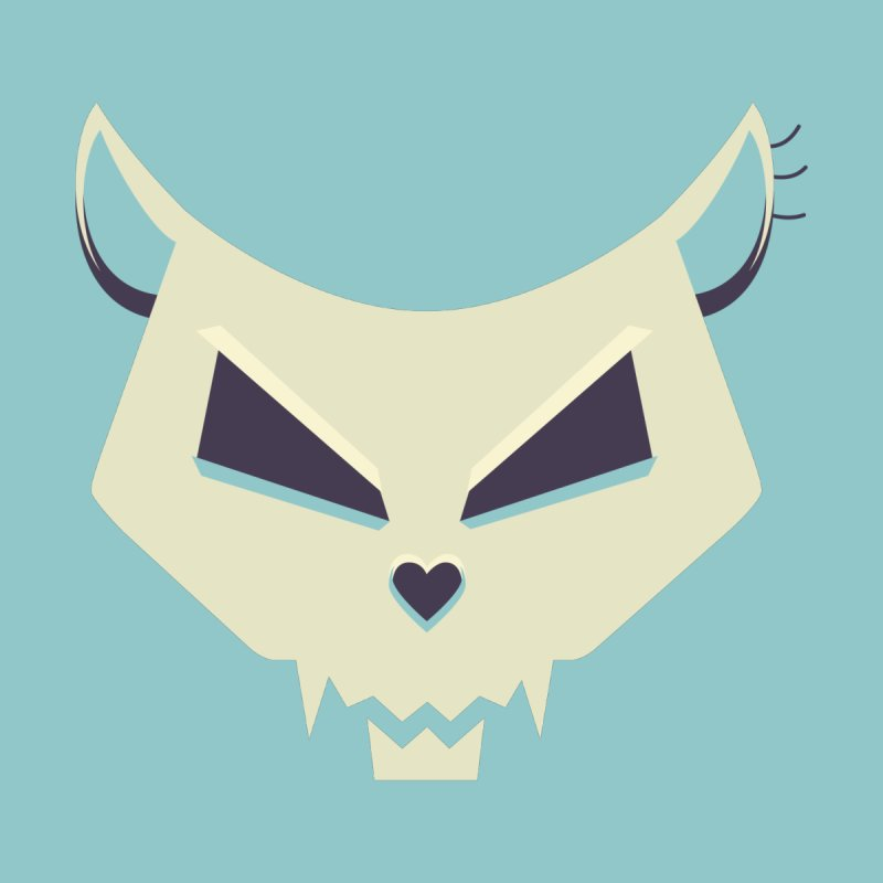 Funny Evil Cat Skull by Boriana's Artist Shop