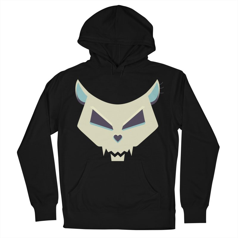 Funny Evil Cat Skull Men's Pullover Hoody by Boriana's Artist Shop
