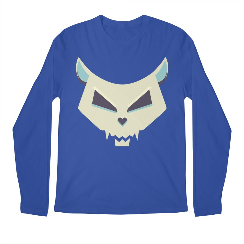 Funny Evil Cat Skull Men's Longsleeve T-Shirt by Boriana's Artist Shop