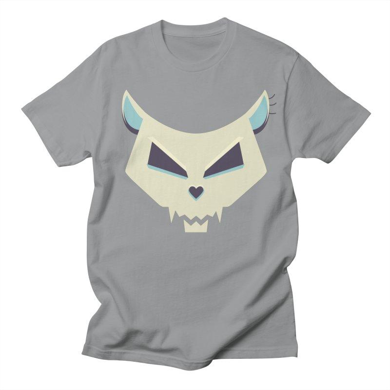 Funny Evil Cat Skull Men's T-shirt by Boriana's Artist Shop