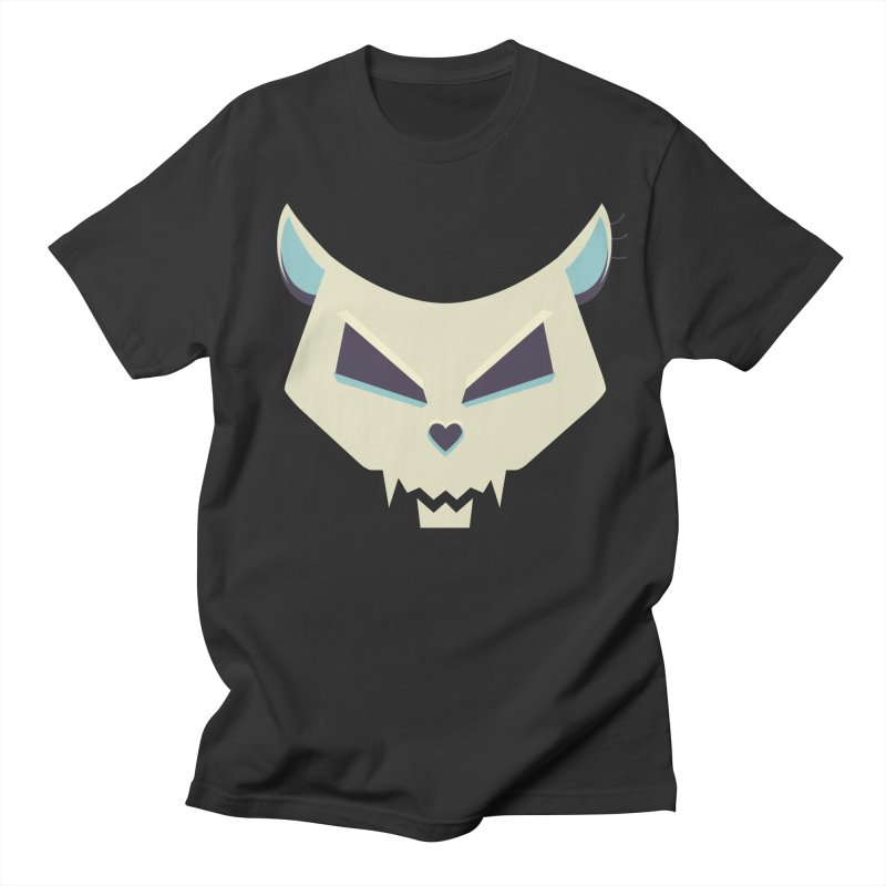 Funny Evil Cat Skull Women's Unisex T-Shirt by Boriana's Artist Shop
