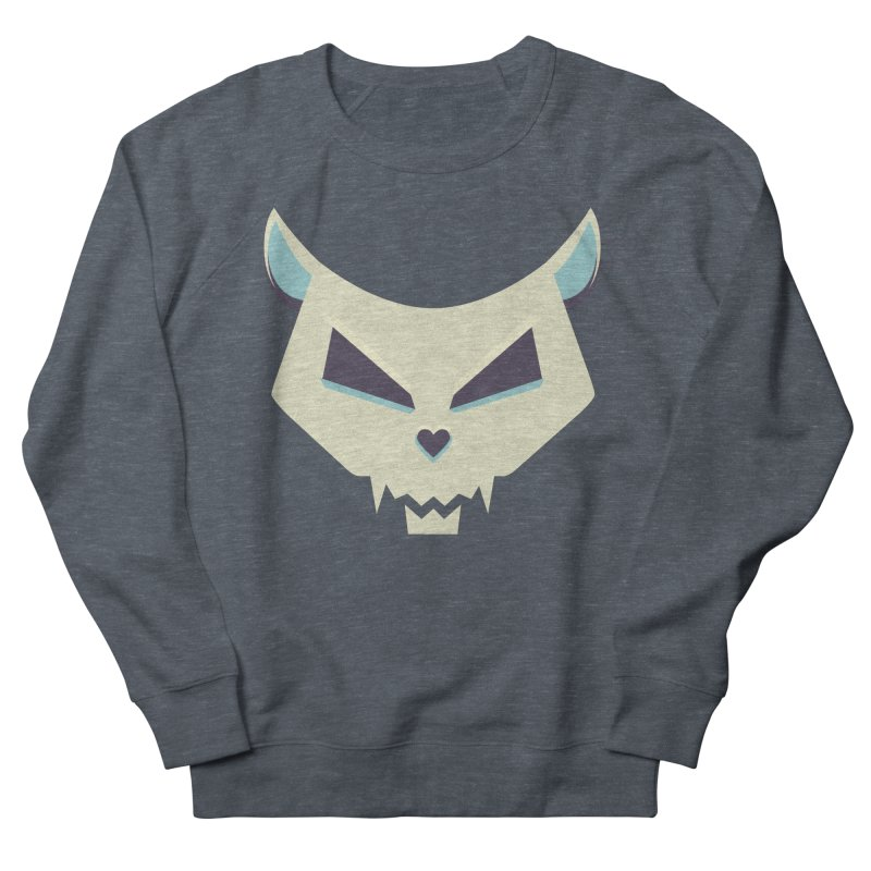 Funny Evil Cat Skull Women's Sweatshirt by Boriana's Artist Shop