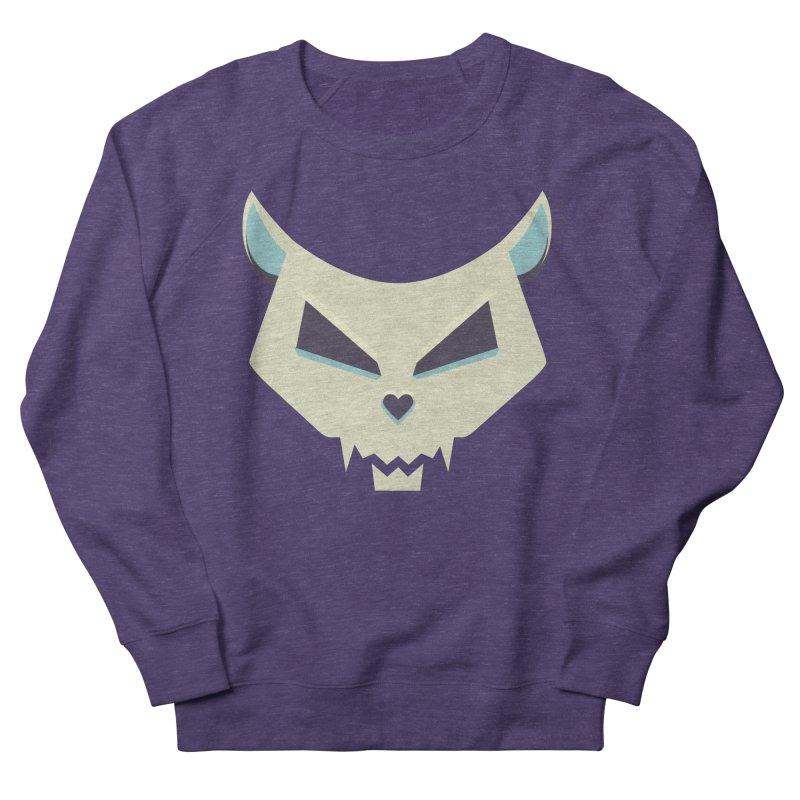 Funny Evil Cat Skull Men's Sweatshirt by Boriana's Artist Shop