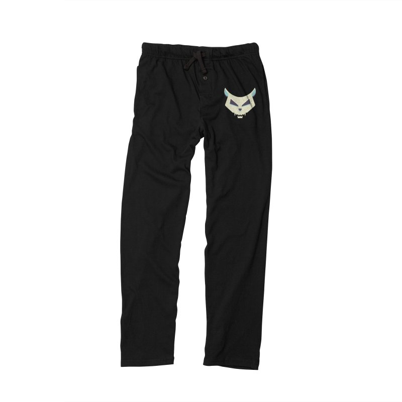 Funny Evil Cat Skull Men's Lounge Pants by Boriana's Artist Shop