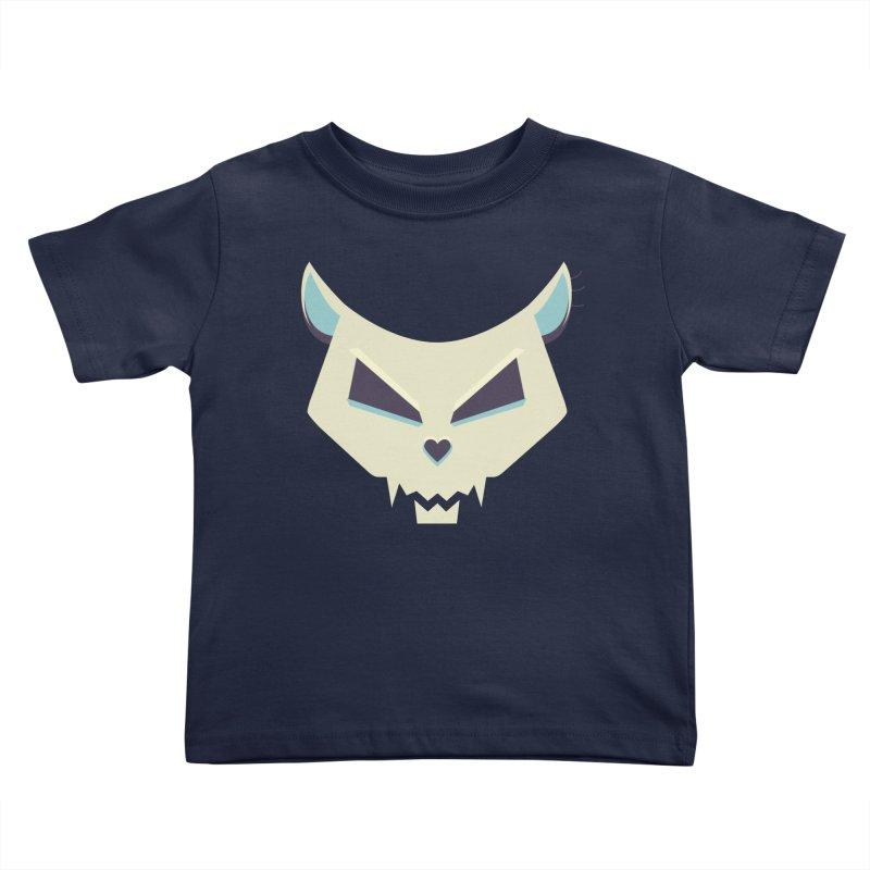 Funny Evil Cat Skull Kids Toddler T-Shirt by Boriana's Artist Shop