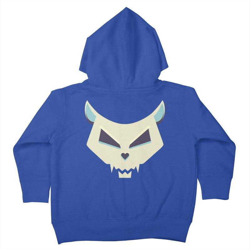 Funny Evil Cat Skull Kids Toddler Zip-Up Hoody by Boriana's Artist Shop