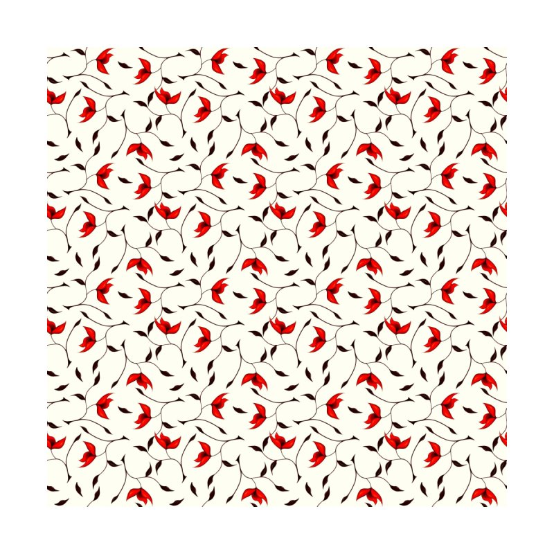 Strange Red Flowers Pattern by Boriana's Artist Shop