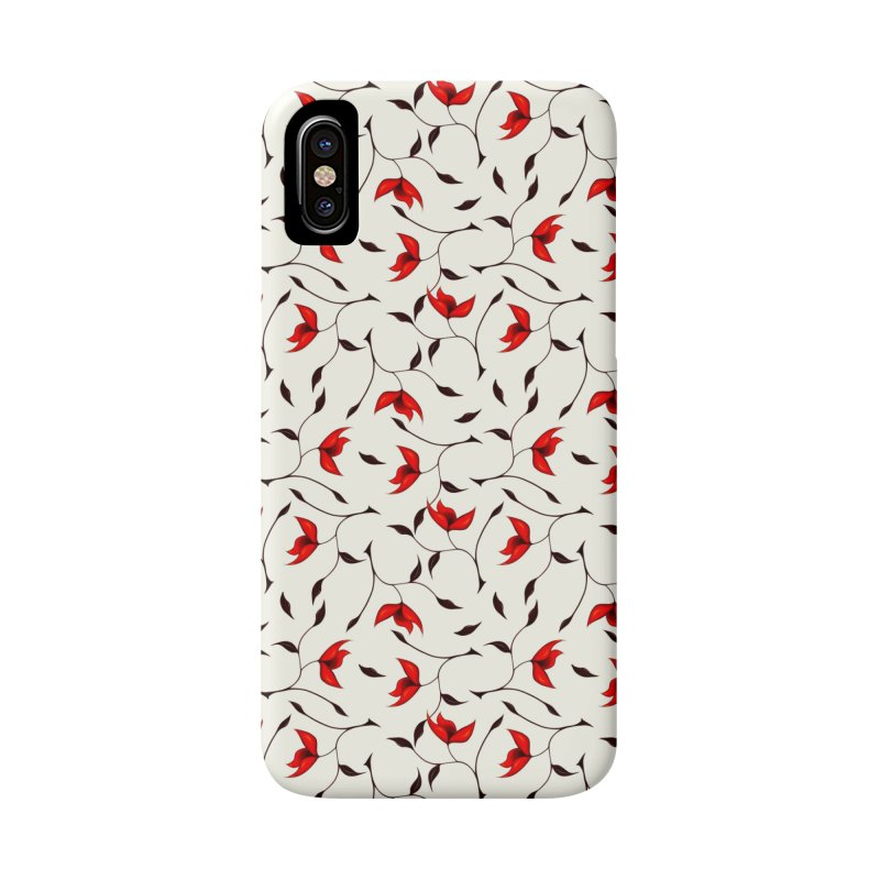 Strange Red Flowers Pattern Accessories Phone Case by Boriana's Artist Shop