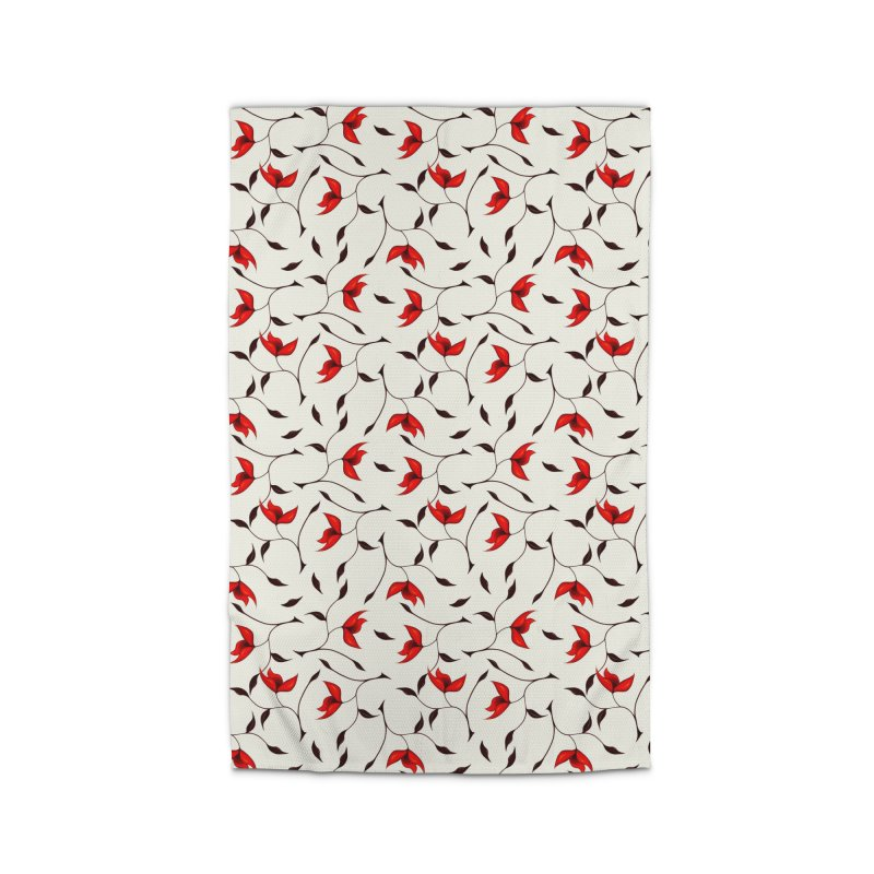 Strange Red Flowers Pattern Home Rug by Boriana's Artist Shop