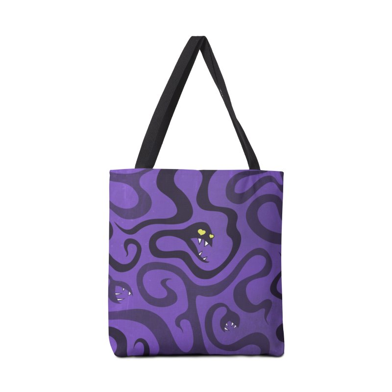 Purple Evil Snakes In Love Accessories Bag by Boriana's Artist Shop