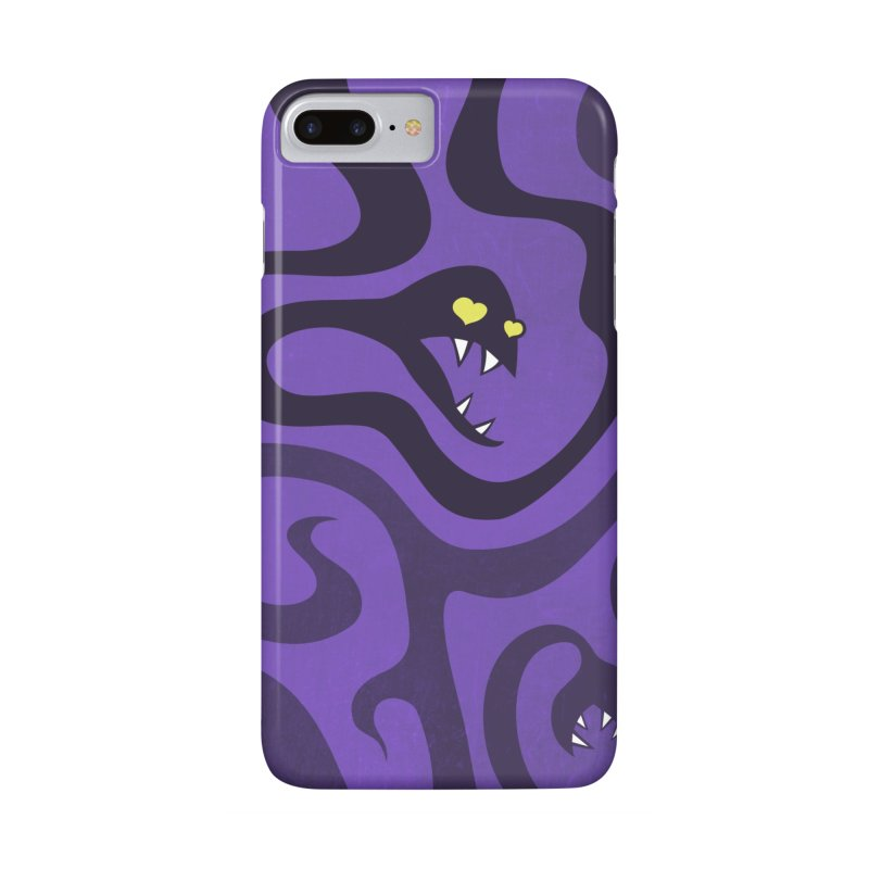 Purple Evil Snakes In Love Accessories Phone Case by Boriana's Artist Shop