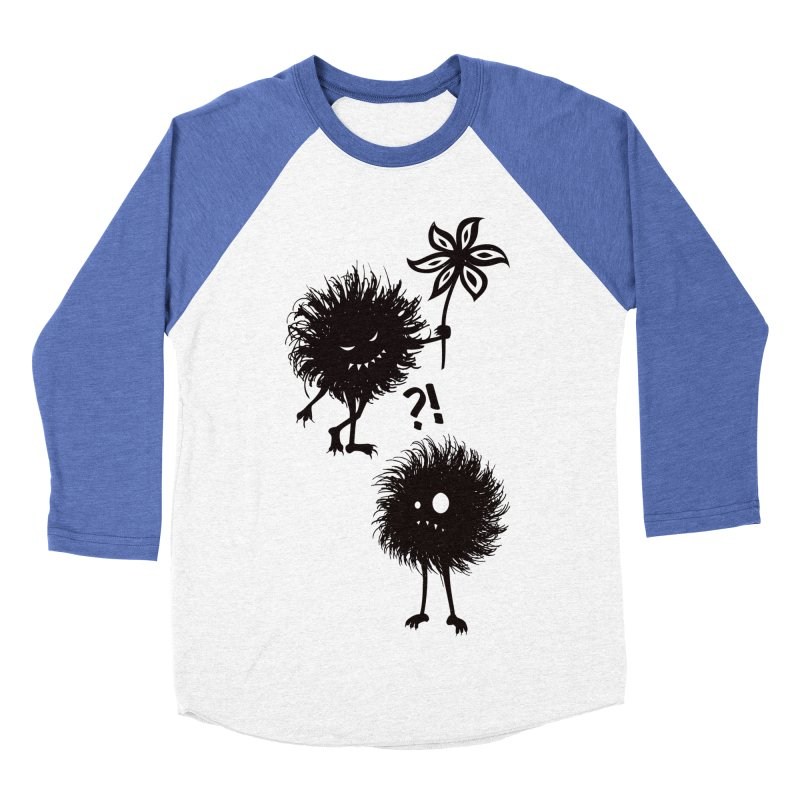 Kind Evil Bug Friends Men's Baseball Triblend T-Shirt by Boriana's Artist Shop