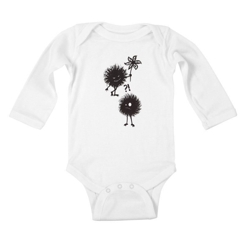 Kind Evil Bug Friends Kids Baby Longsleeve Bodysuit by Boriana's Artist Shop