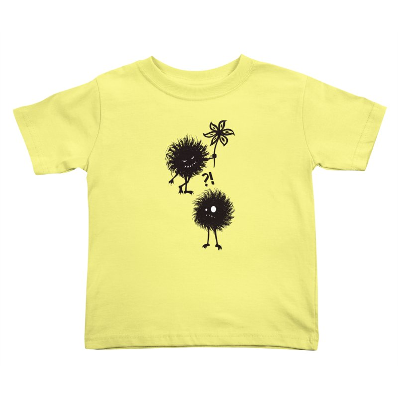 Kind Evil Bug Friends Kids Toddler T-Shirt by Boriana's Artist Shop