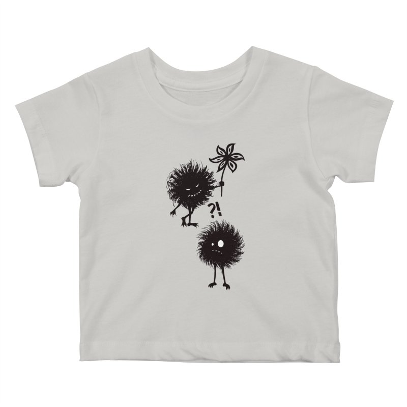 Kind Evil Bug Friends Kids Baby T-Shirt by Boriana's Artist Shop
