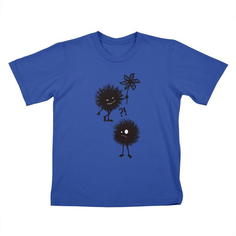 Kind Evil Bug Friends Kids T-shirt by Boriana's Artist Shop