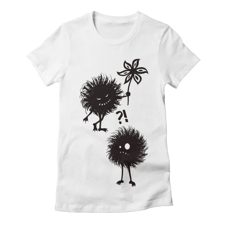 Kind Evil Bug Friends Women's Fitted T-Shirt by Boriana's Artist Shop