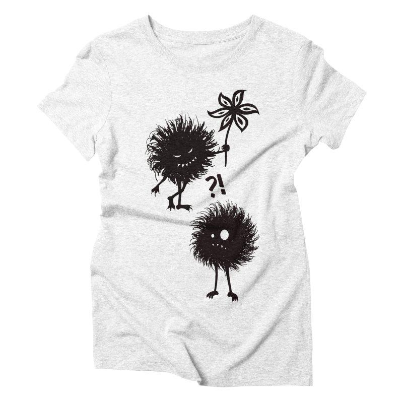 Kind Evil Bug Friends Women's Triblend T-shirt by Boriana's Artist Shop