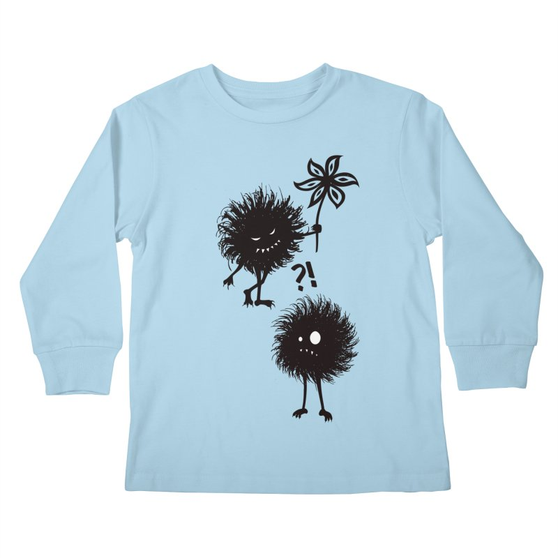 Kind Evil Bug Friends Kids Longsleeve T-Shirt by Boriana's Artist Shop