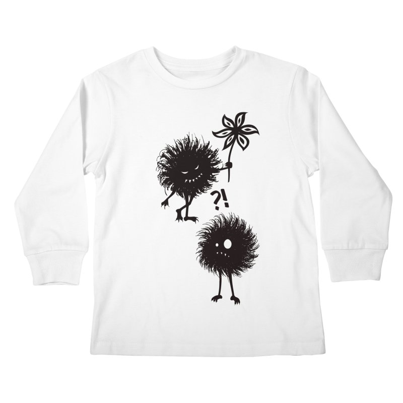 Kind Evil Bug Friends Kids Longsleeve T-Shirt by Boriana's Artist Shop