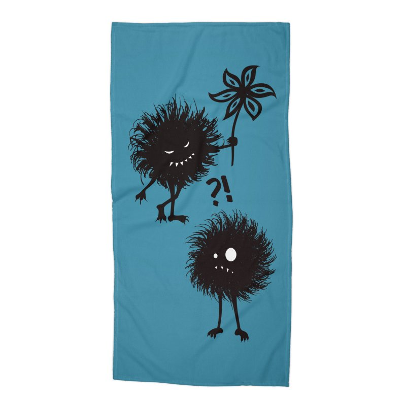 Kind Evil Bug Friends Accessories Beach Towel by Boriana's Artist Shop