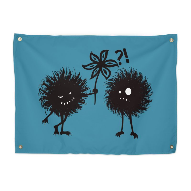 Kind Evil Bug Friends Home Tapestry by Boriana's Artist Shop