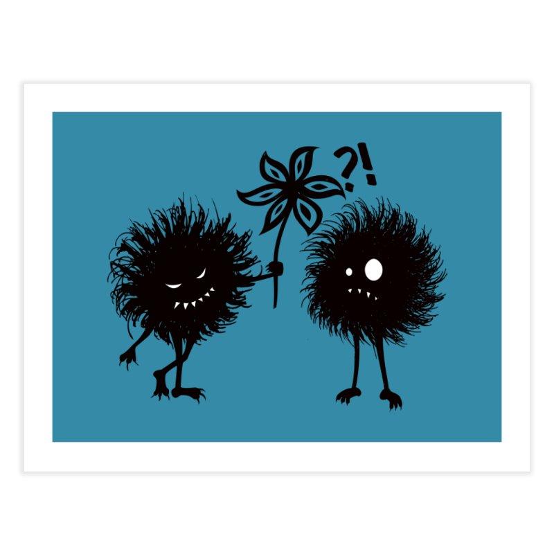 Kind Evil Bug Friends Home Fine Art Print by Boriana's Artist Shop