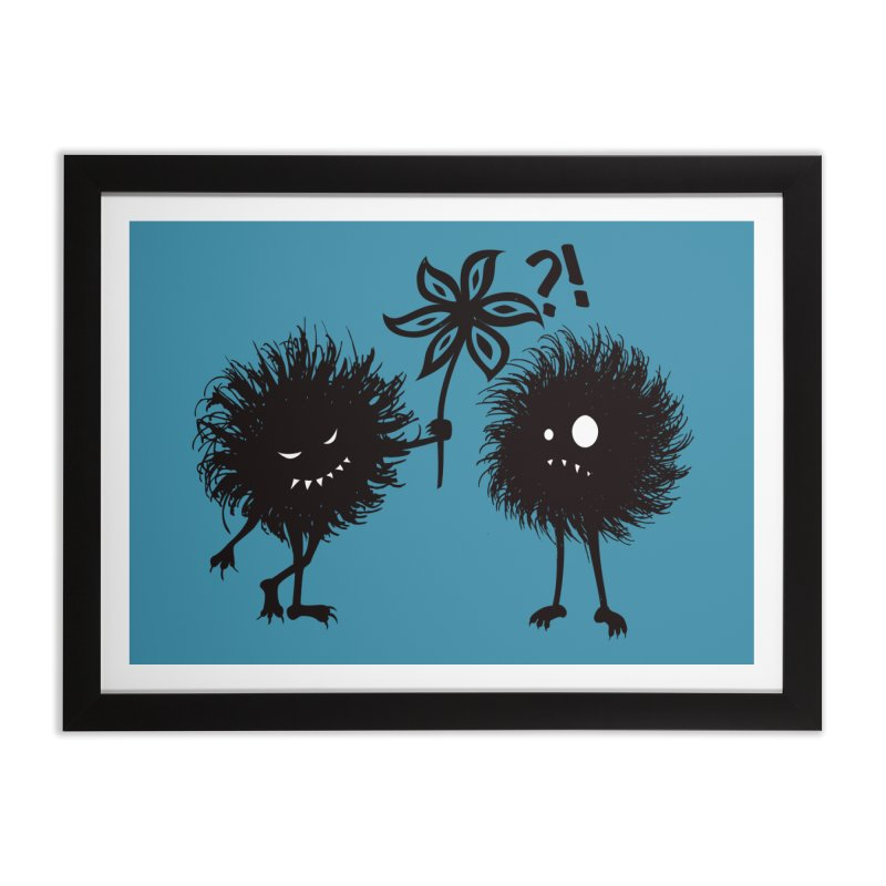 Kind Evil Bug Friends Home Framed Fine Art Print by Boriana's Artist Shop