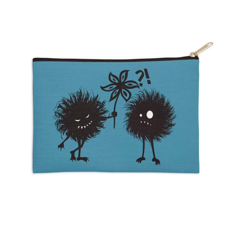Kind Evil Bug Friends Accessories Zip Pouch by Boriana's Artist Shop