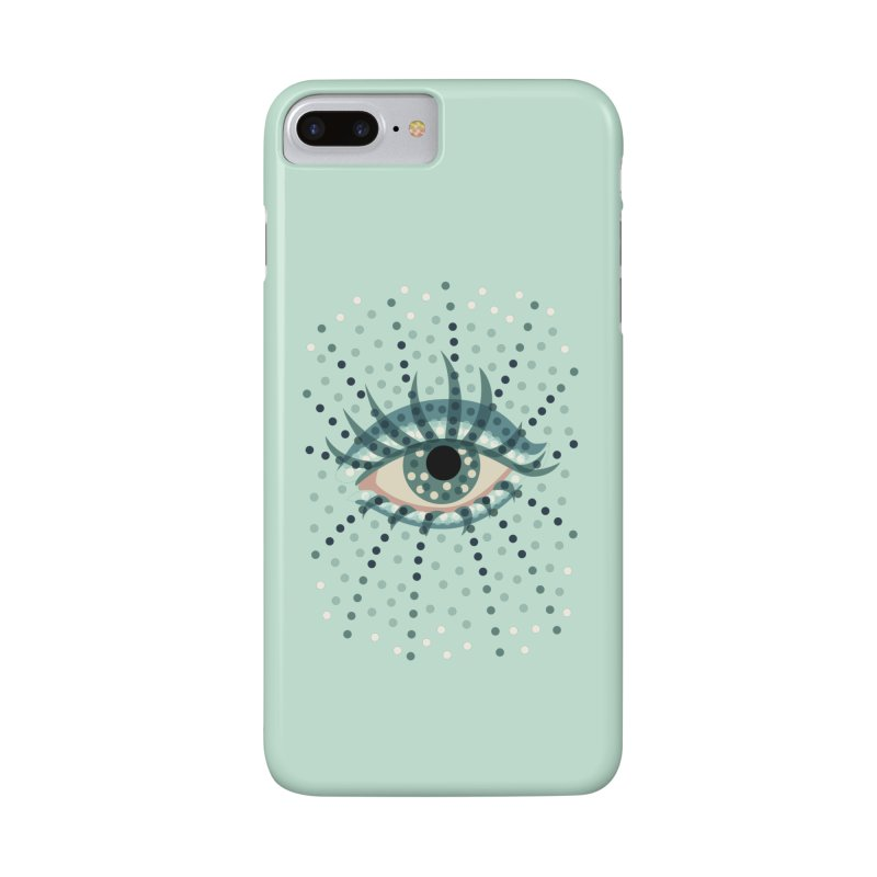 Dotted Blue Eye Accessories Phone Case by Boriana's Artist Shop