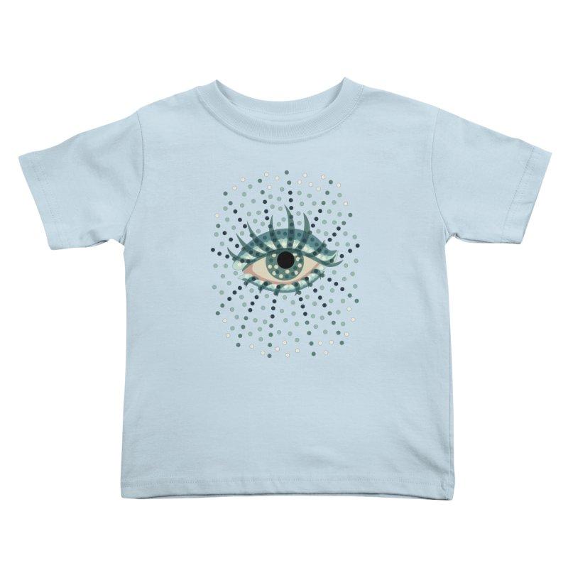 Dotted Blue Eye Kids Toddler T-Shirt by Boriana's Artist Shop