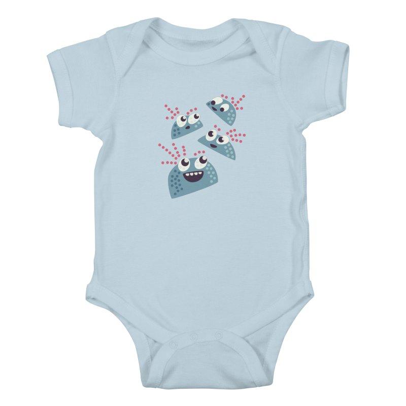 Kawaii Cute Candy Kids Baby Bodysuit by Boriana's Artist Shop