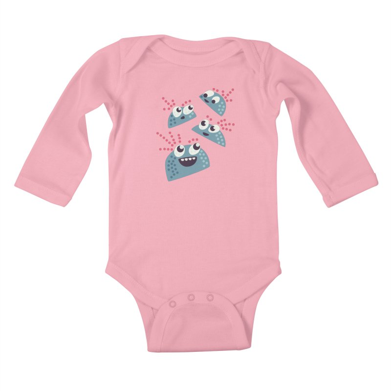 Kawaii Cute Candy Kids Baby Longsleeve Bodysuit by Boriana's Artist Shop