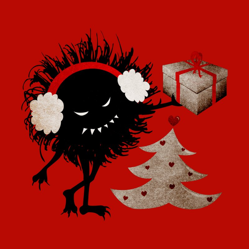 Evil Bug With Christmas Present Men's T-Shirt by Boriana's Artist Shop