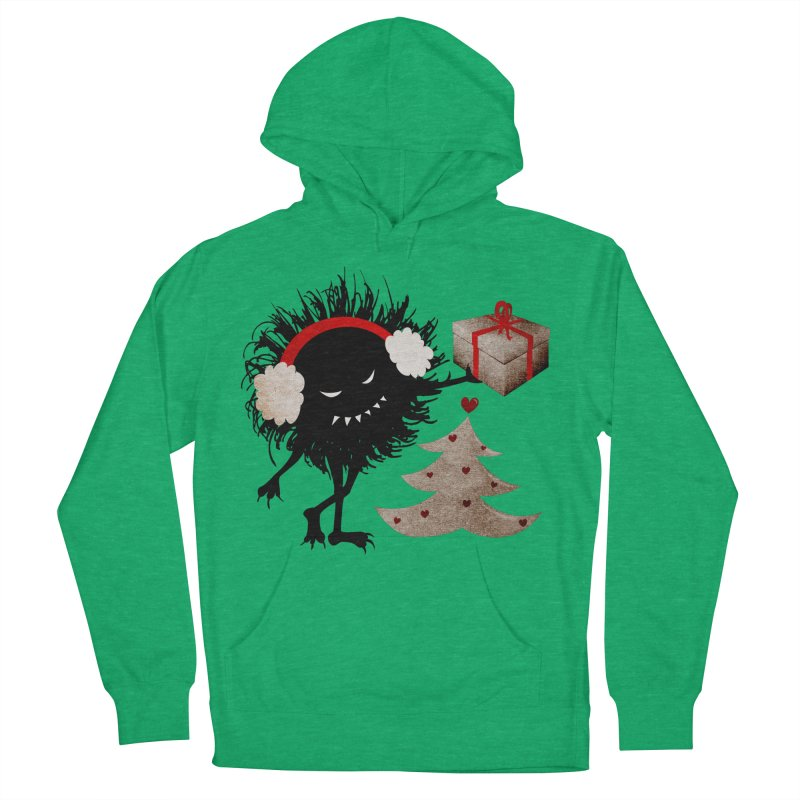Evil Bug With Christmas Present Men's Pullover Hoody by Boriana's Artist Shop