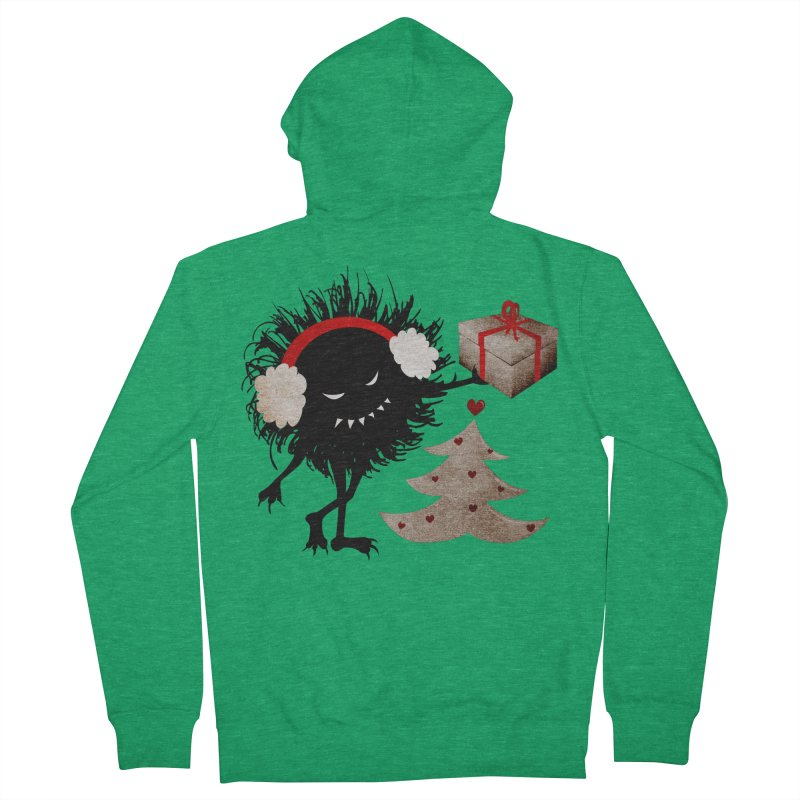 Evil Bug With Christmas Present Women's Zip-Up Hoody by Boriana's Artist Shop