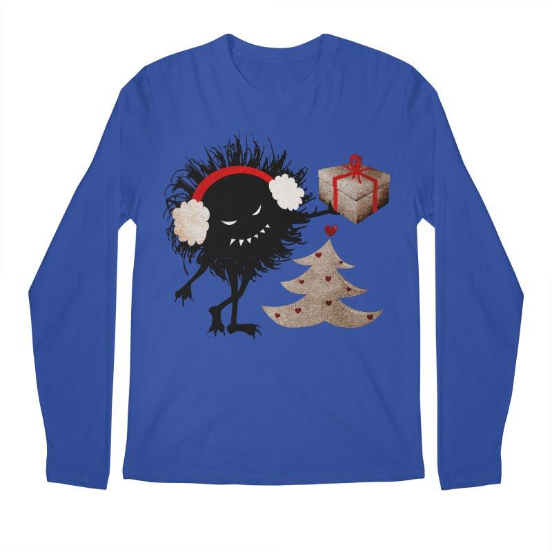 Evil Bug With Christmas Present Men's Longsleeve T-Shirt by Boriana's Artist Shop