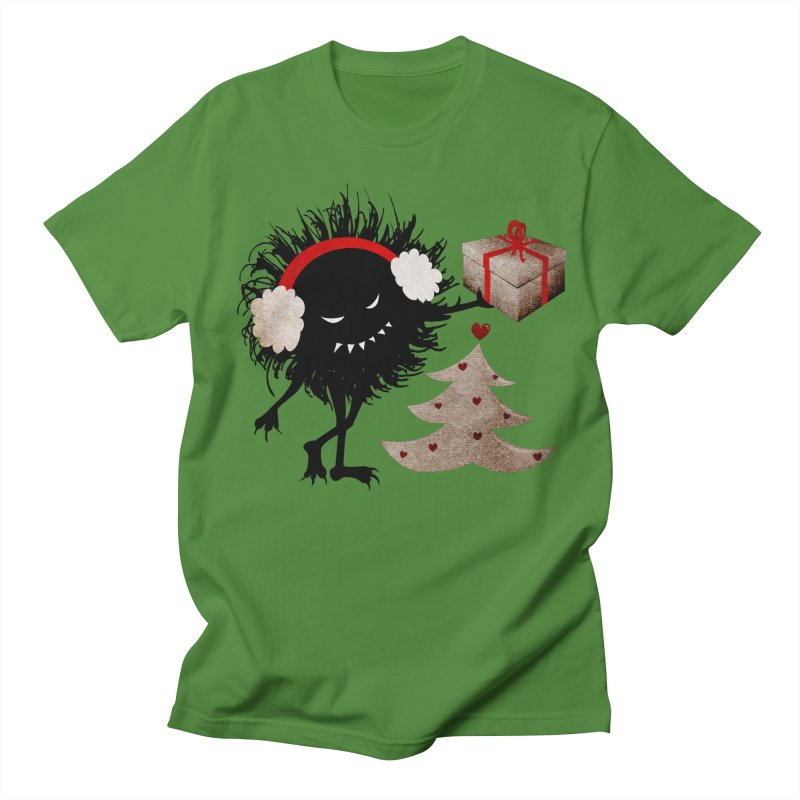 Evil Bug With Christmas Present Women's Unisex T-Shirt by Boriana's Artist Shop
