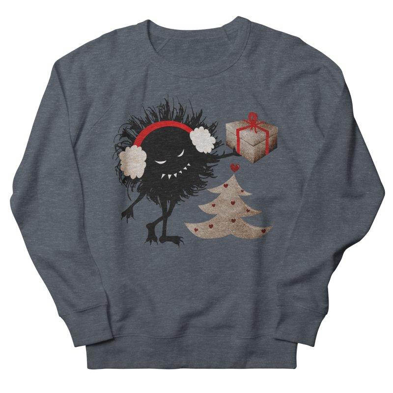 Evil Bug With Christmas Present Women's Sweatshirt by Boriana's Artist Shop