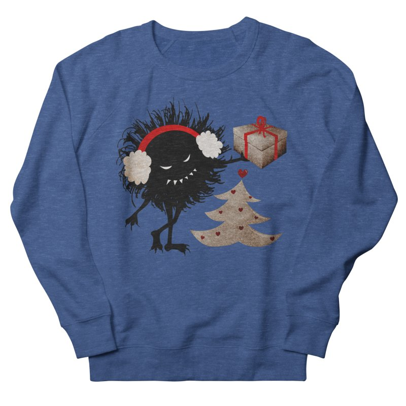Evil Bug With Christmas Present Men's Sweatshirt by Boriana's Artist Shop