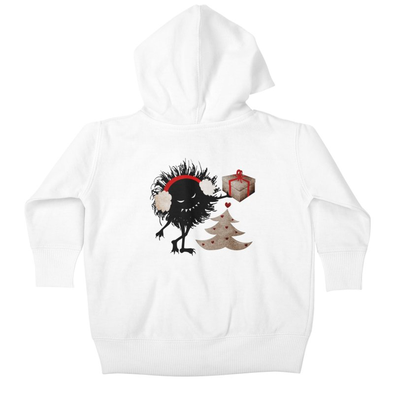Evil Bug With Christmas Present Kids Baby Zip-Up Hoody by Boriana's Artist Shop
